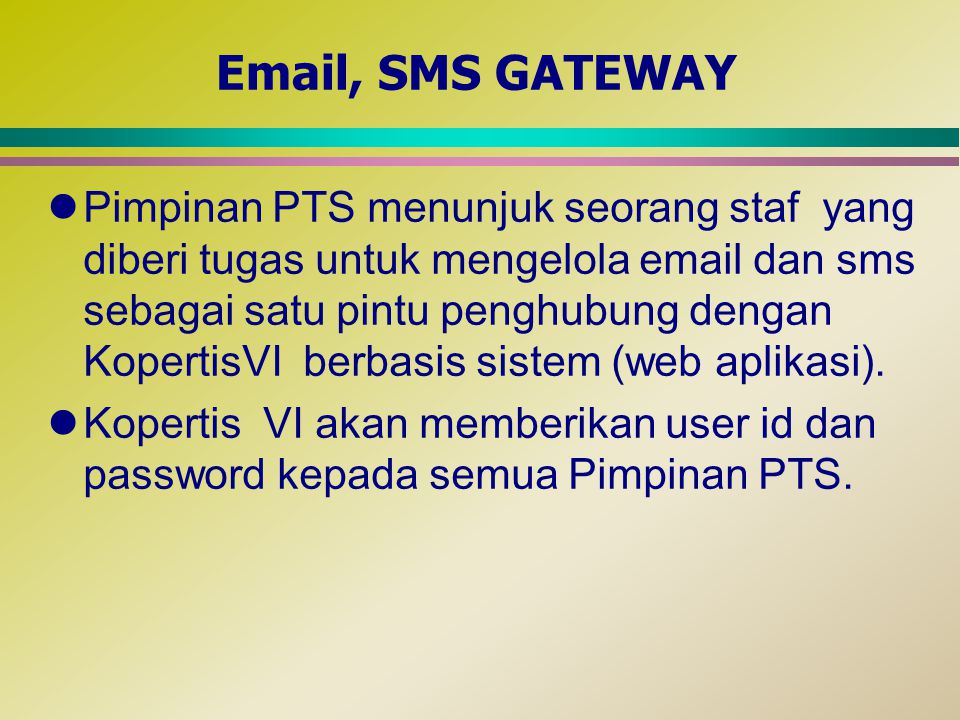 Email, SMS GATEWAY