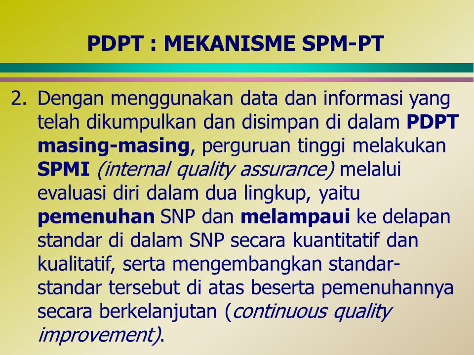 PDPT : MEKANISME SPM-PT