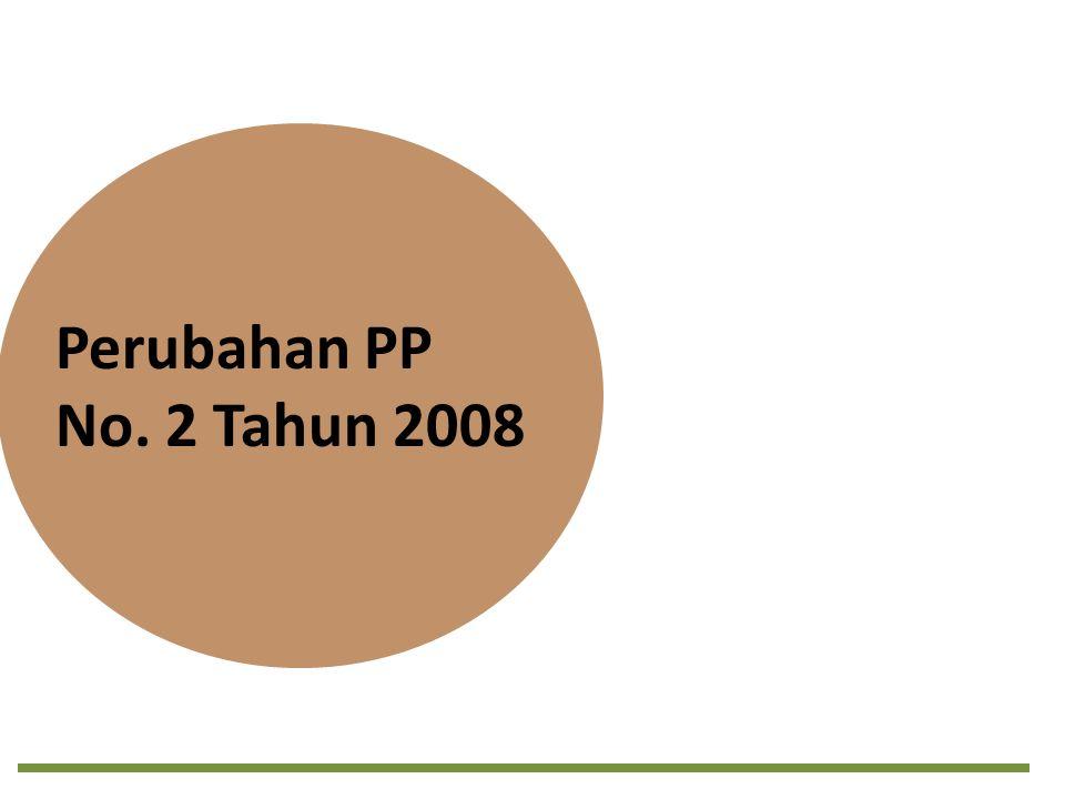 Perubahan PP No. 2 Tahun 2008