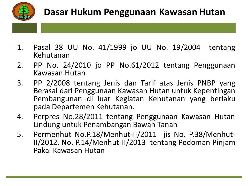 Dasar Hukum Penggunaan Kawasan Hutan