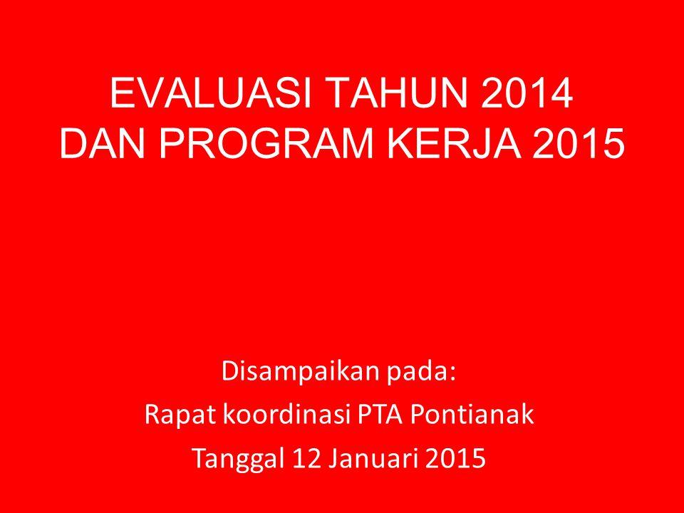 EVALUASI TAHUN 2014 DAN PROGRAM KERJA 2015