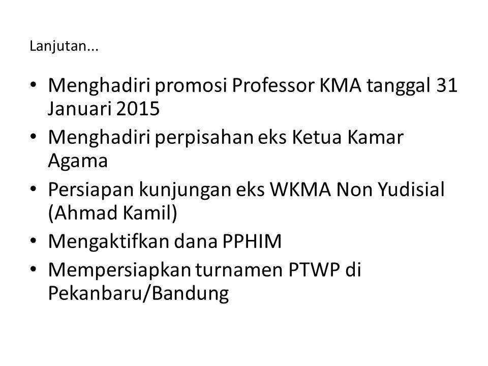 Menghadiri promosi Professor KMA tanggal 31 Januari 2015