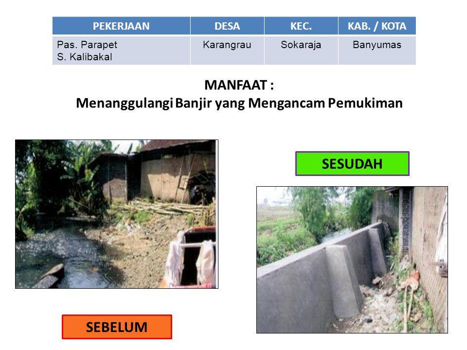 Menanggulangi Banjir yang Mengancam Pemukiman