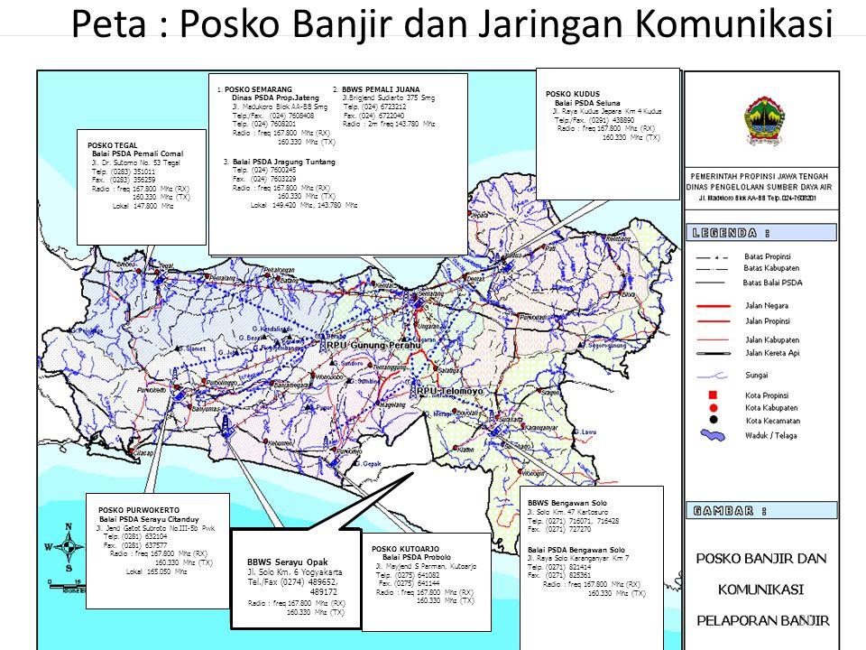 Peta : Posko Banjir dan Jaringan Komunikasi