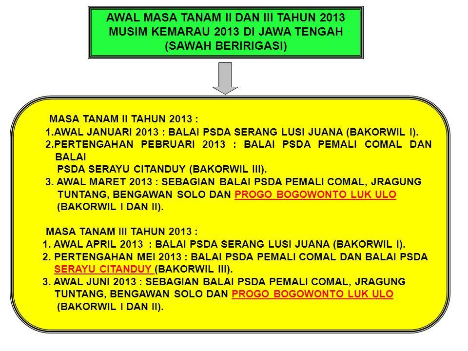 AWAL MASA TANAM II DAN III TAHUN 2013