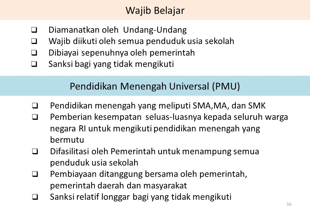 Pendidikan Menengah Universal (PMU)