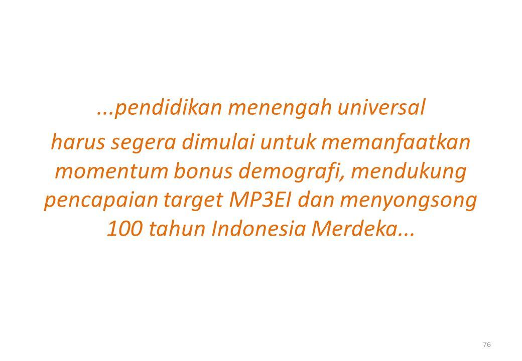 ...pendidikan menengah universal