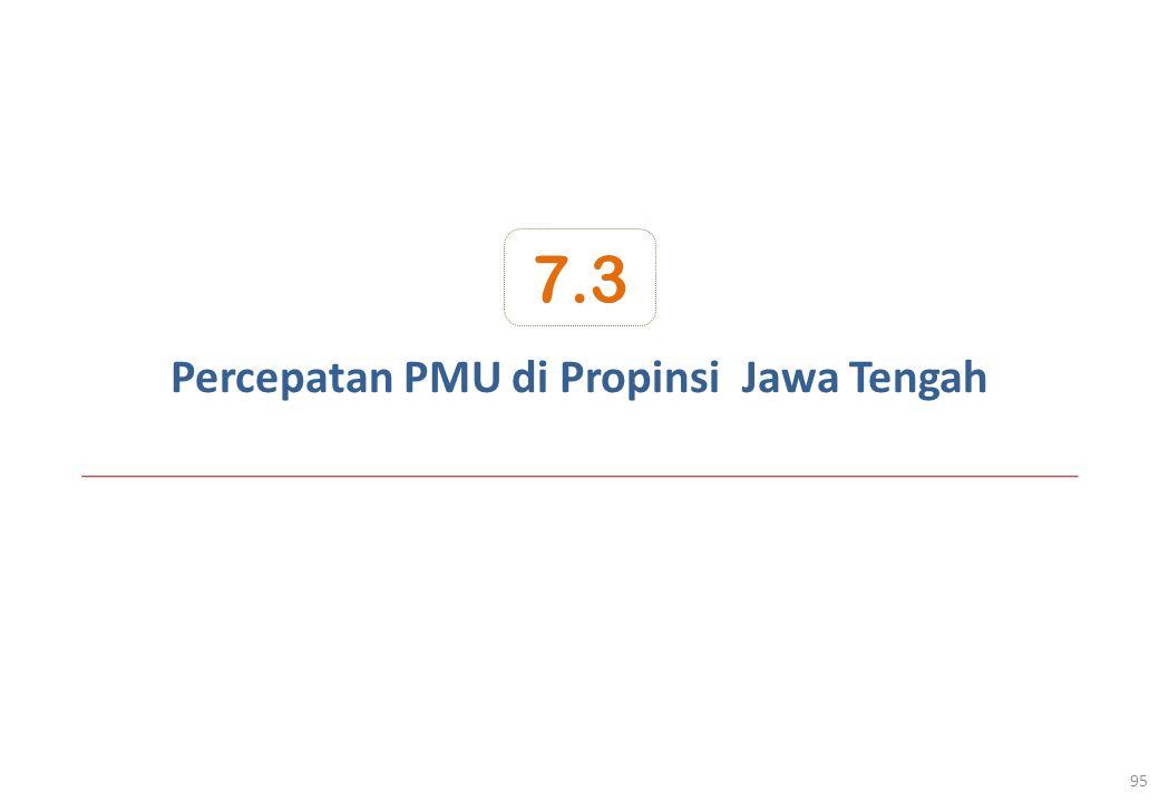 Percepatan PMU di Propinsi Jawa Tengah