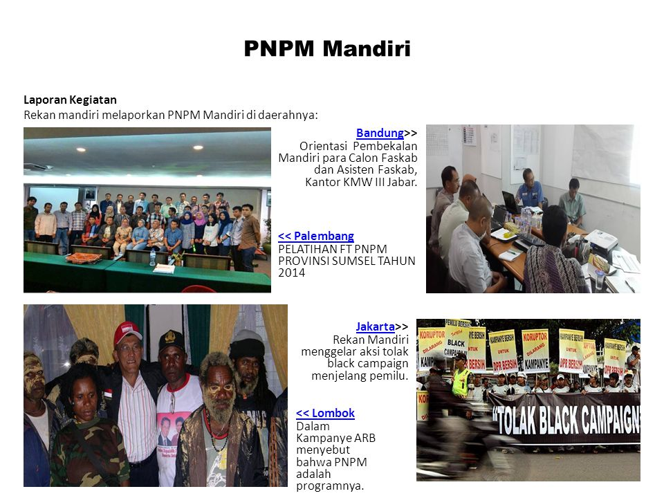 PNPM Mandiri Laporan Kegiatan
