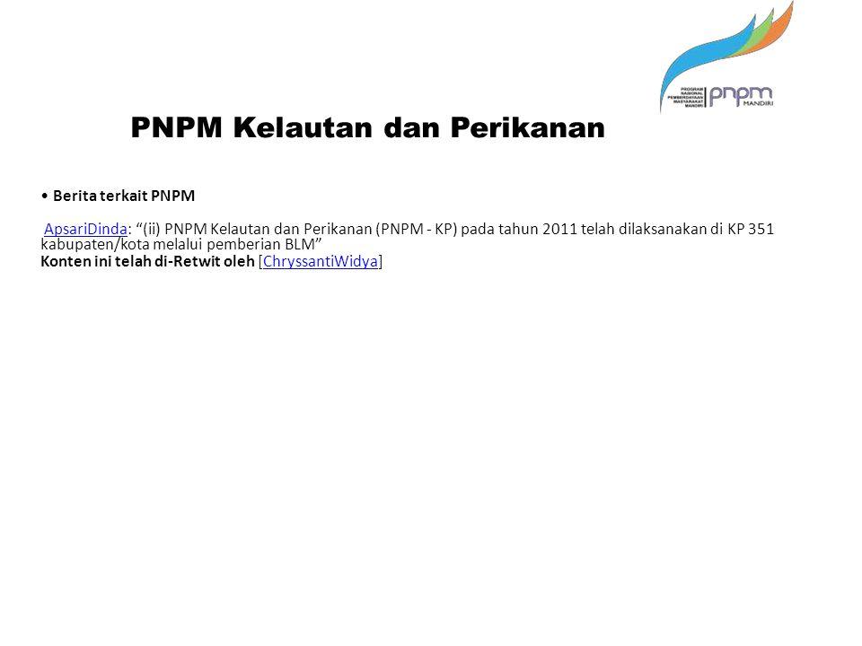 PNPM Kelautan dan Perikanan