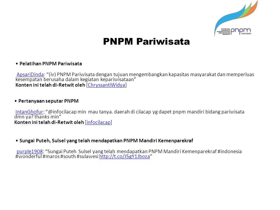 PNPM Pariwisata • Pelatihan PNPM Pariwisata