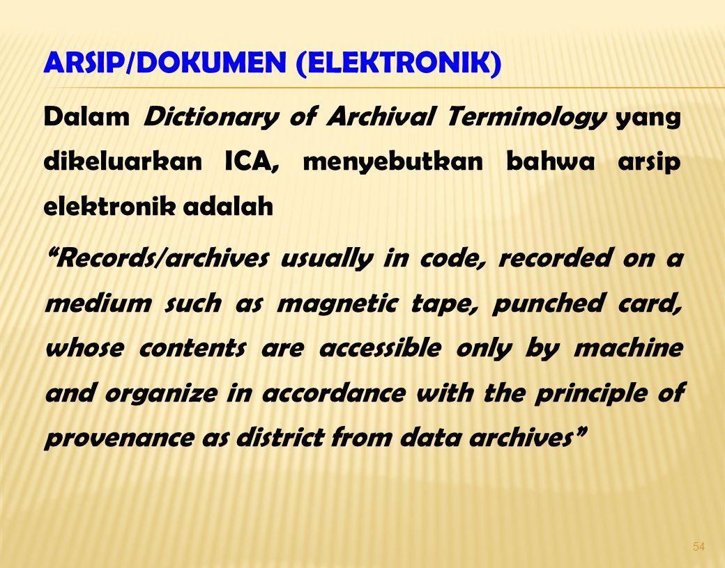 ARSIP/DOKUMEN (ELEKTRONIK)