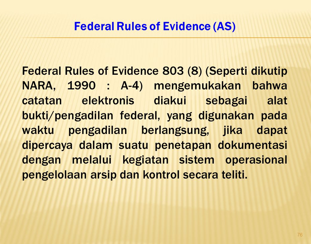 Federal Rules of Evidence (AS)