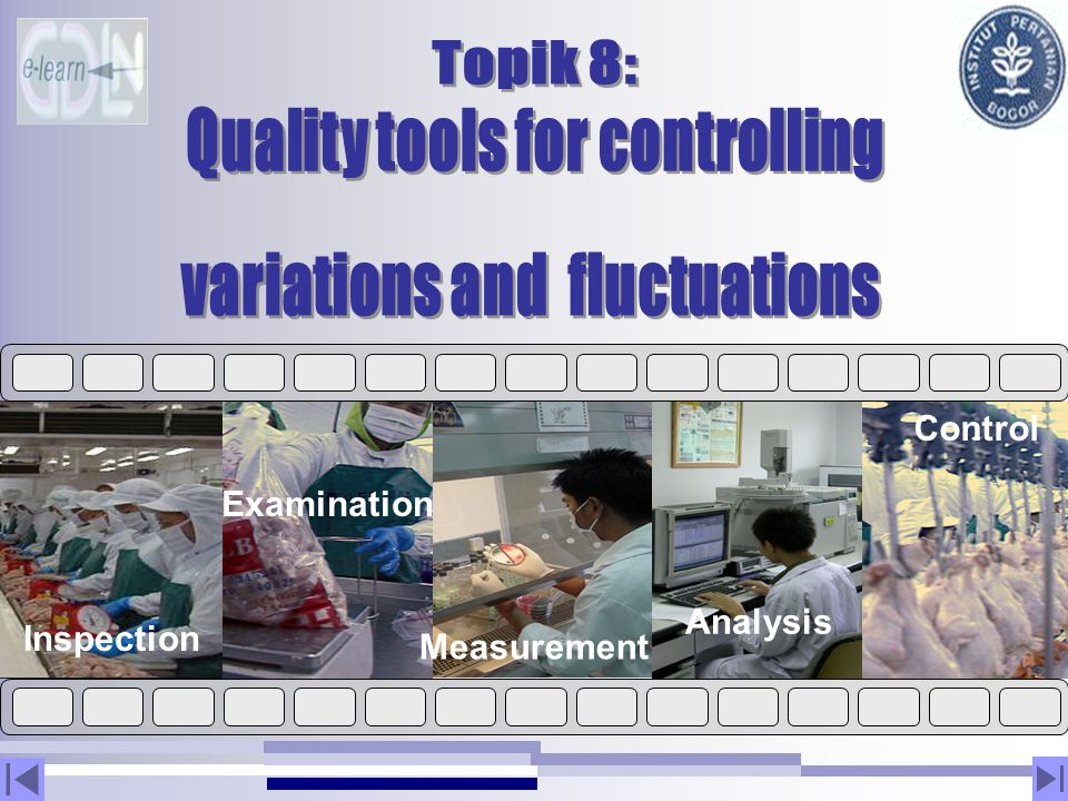 Quality tools for controlling variations and fluctuations