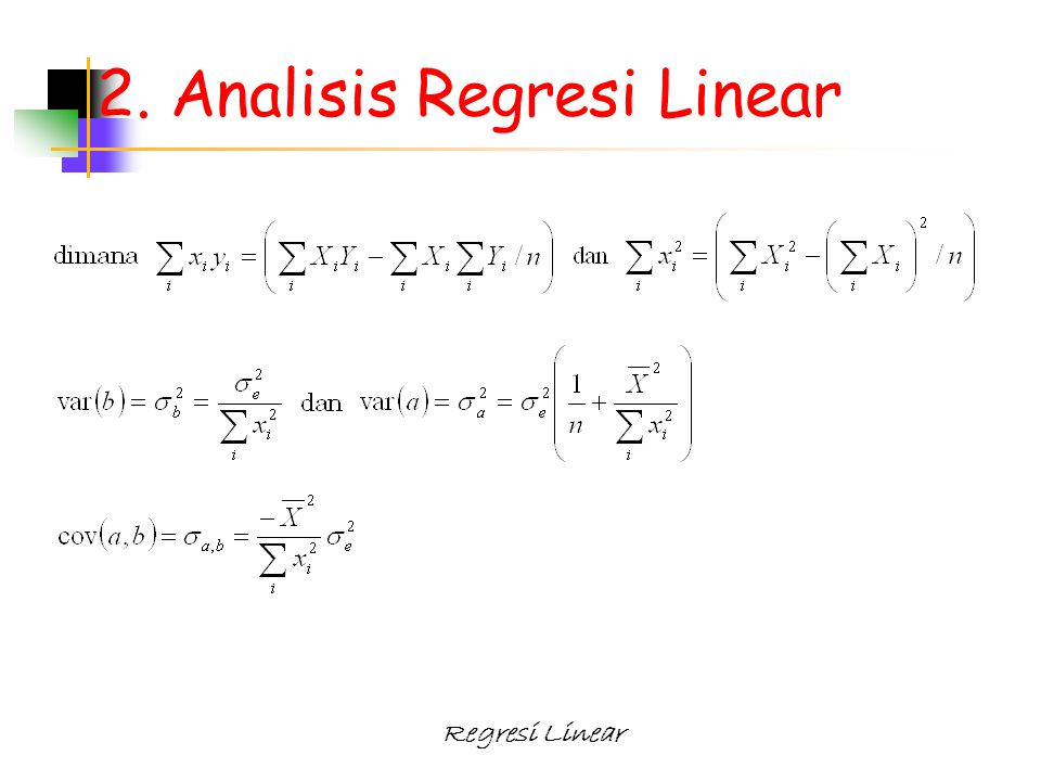 2. Analisis Regresi Linear