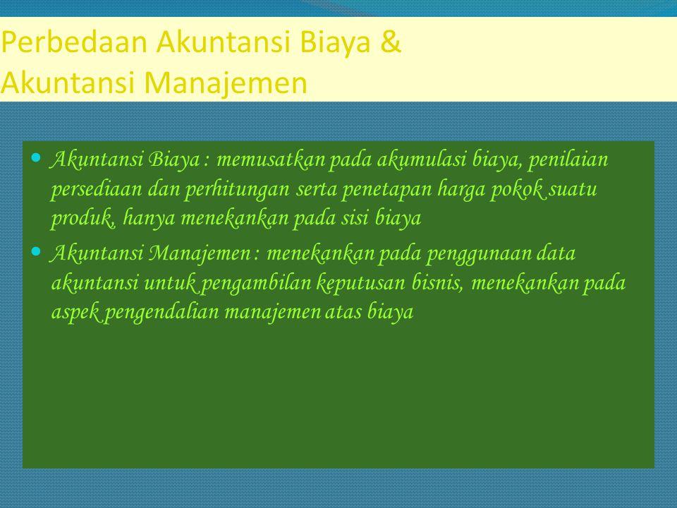 Perbedaan Akuntansi Biaya & Akuntansi Manajemen