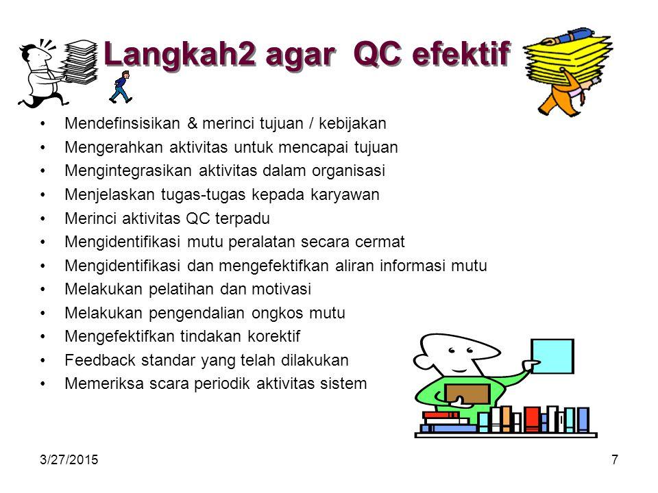 Langkah2 agar QC efektif