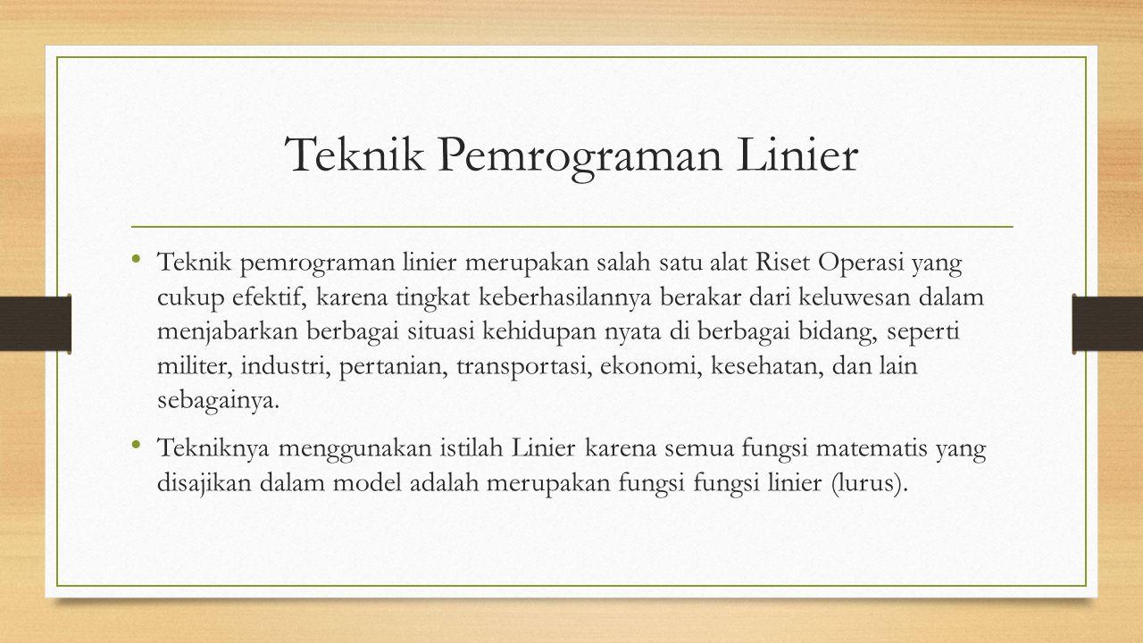 Teknik Pemrograman Linier
