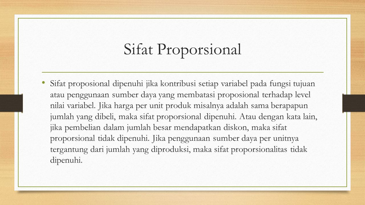 Sifat Proporsional
