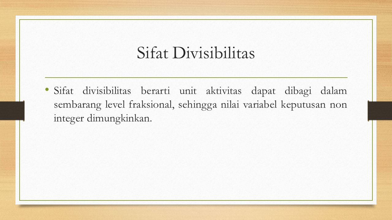 Sifat Divisibilitas