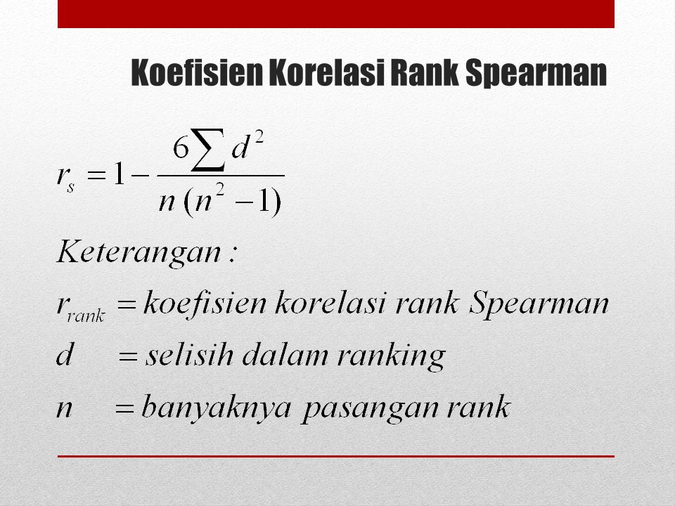 Koefisien Korelasi Rank Spearman