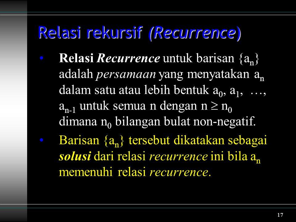 Relasi rekursif (Recurrence)