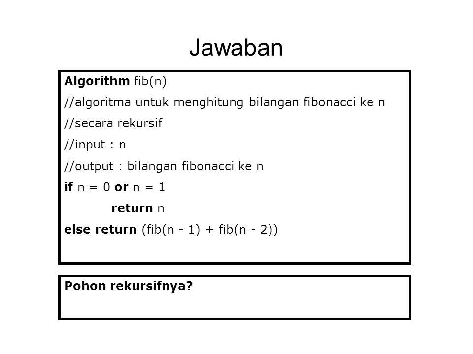 Jawaban Algorithm fib(n)