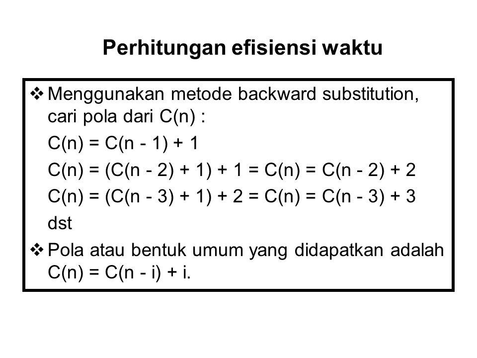 Perhitungan efisiensi waktu