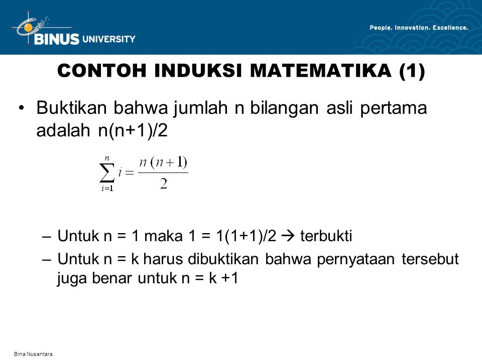 CONTOH INDUKSI MATEMATIKA (1)