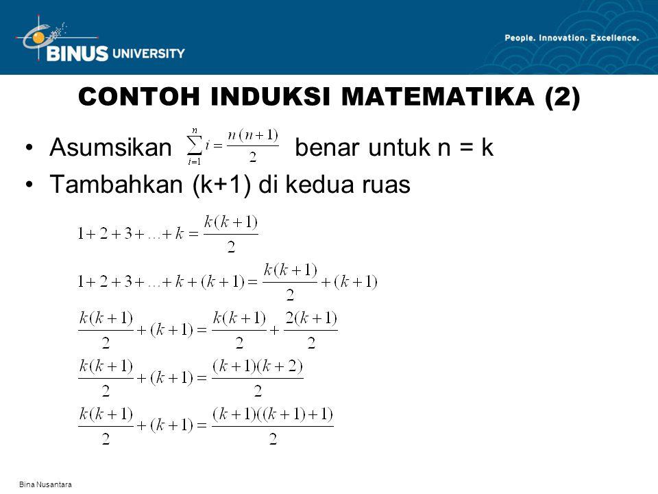 CONTOH INDUKSI MATEMATIKA (2)