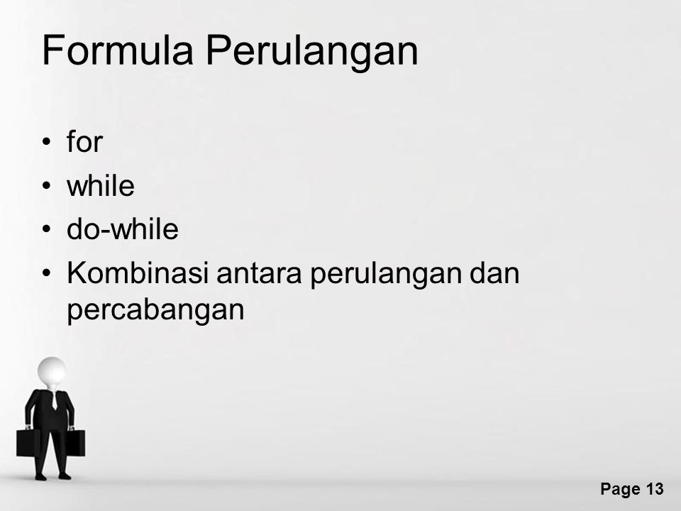 Formula Perulangan for while do-while