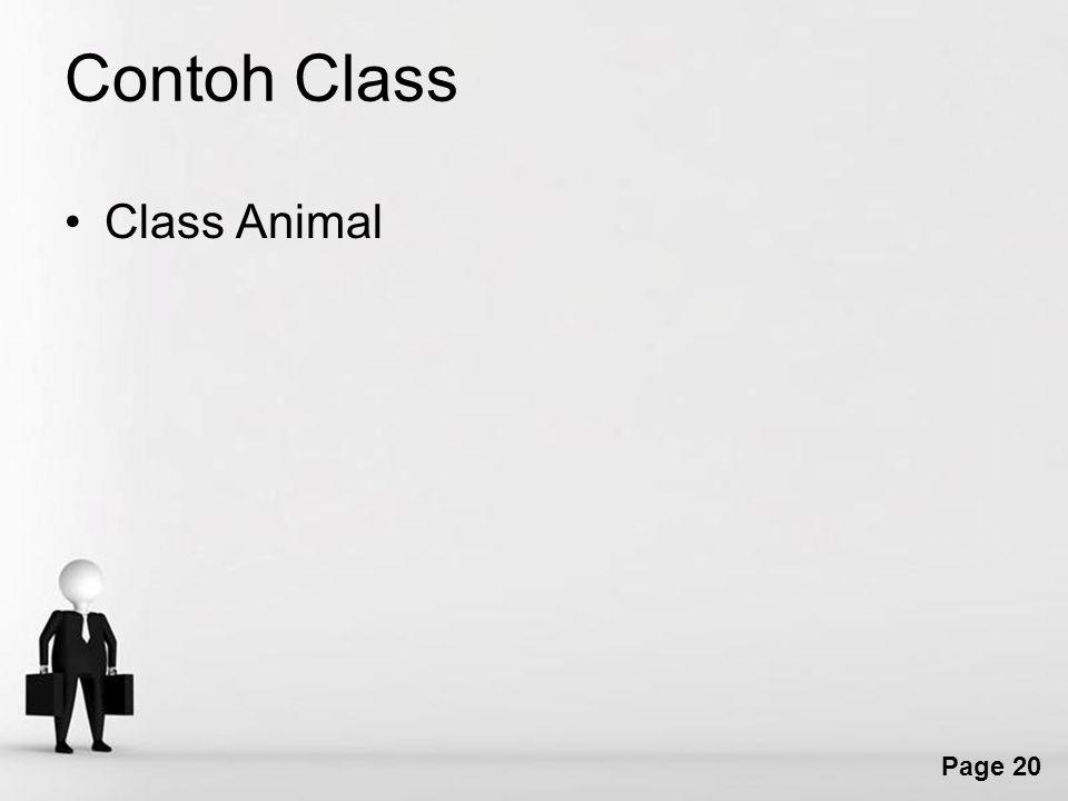 Contoh Class Class Animal