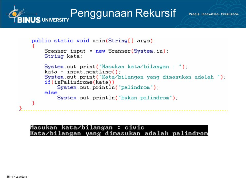 Penggunaan Rekursif Bina Nusantara