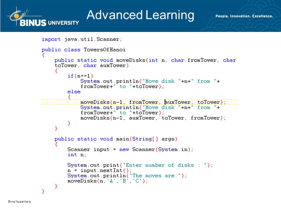 Advanced Learning Bina Nusantara