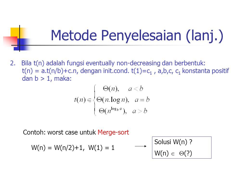 Metode Penyelesaian (lanj.)