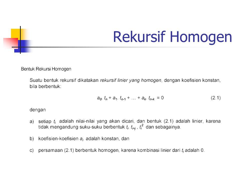 Rekursif Homogen