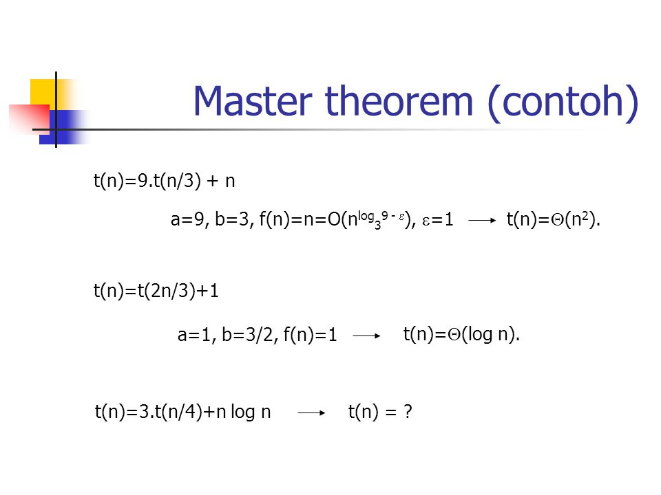 Master theorem (contoh)