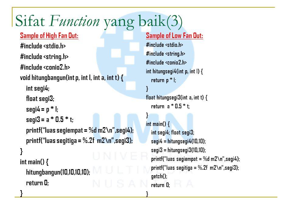 Sifat Function yang baik(3)