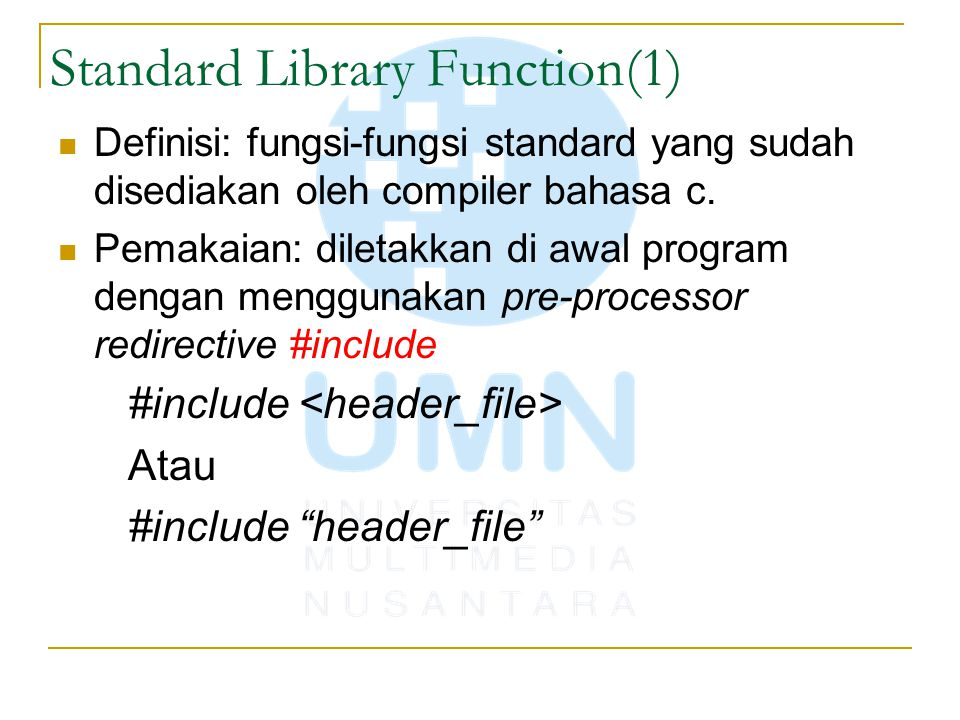 Standard Library Function(1)