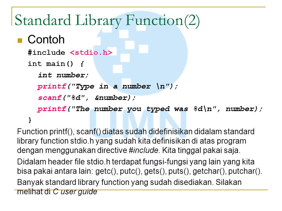 Standard Library Function(2)