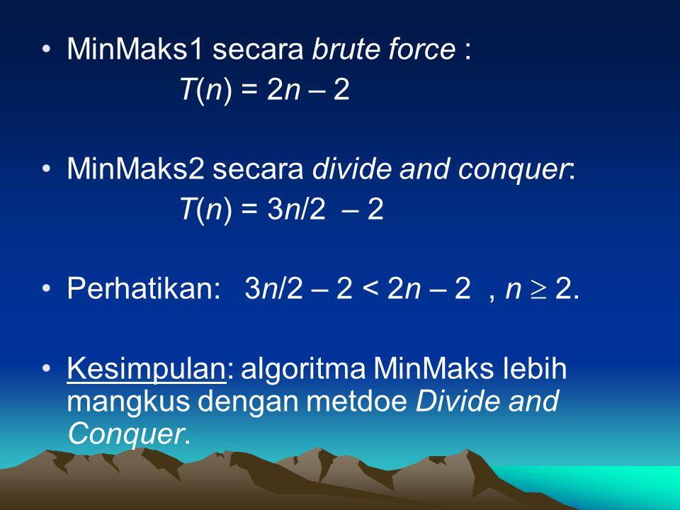 MinMaks1 secara brute force :