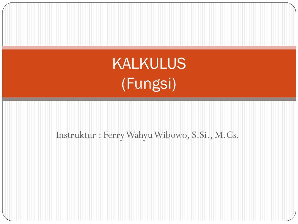 Instruktur : Ferry Wahyu Wibowo, S.Si., M.Cs.