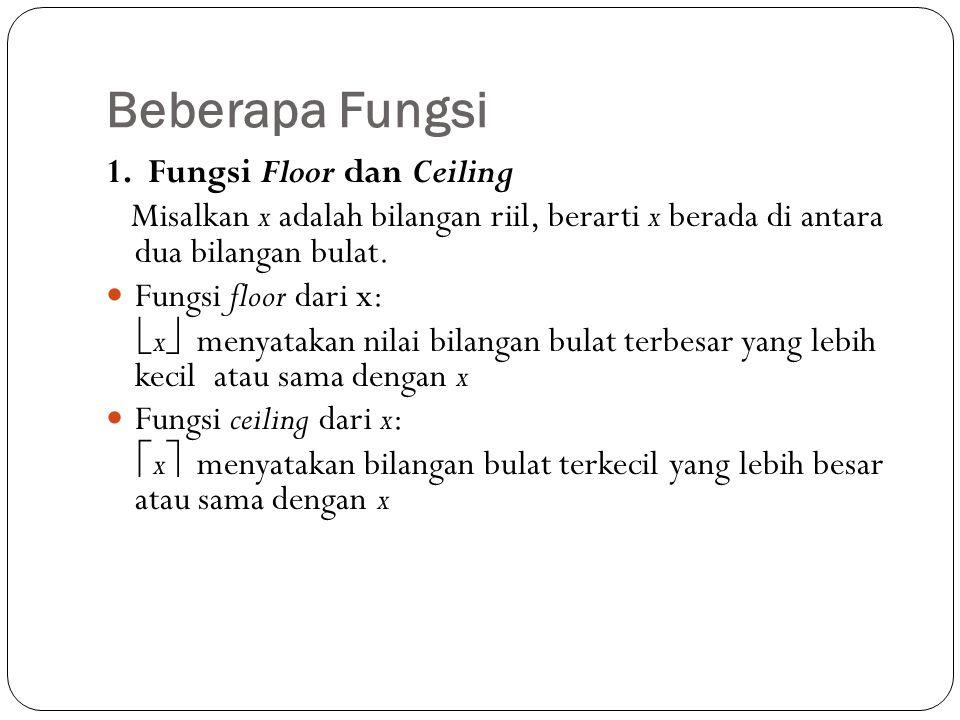 Beberapa Fungsi 1. Fungsi Floor dan Ceiling