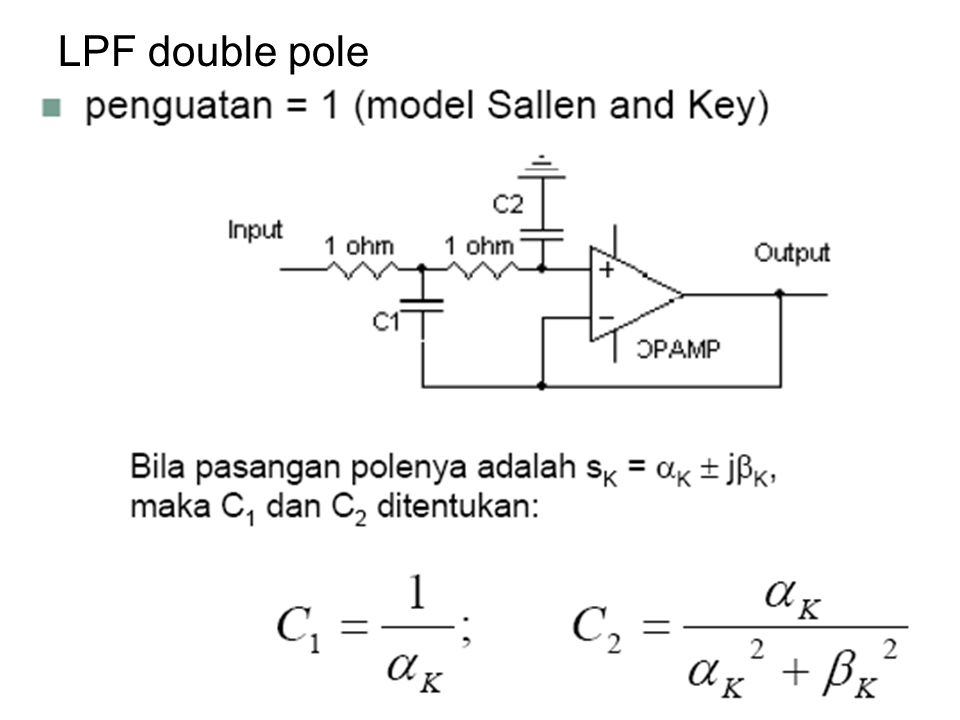 LPF double pole