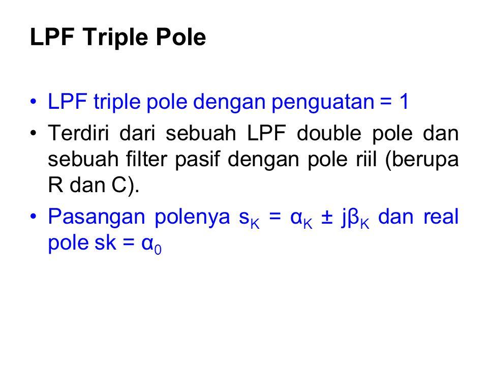 LPF Triple Pole LPF triple pole dengan penguatan = 1