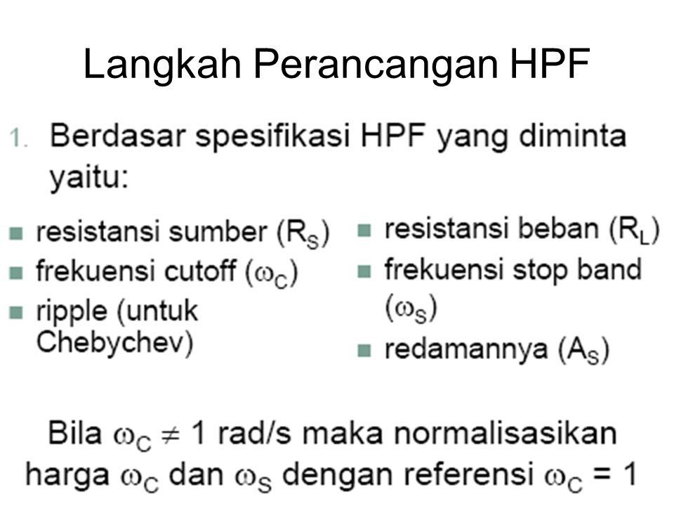 Langkah Perancangan HPF