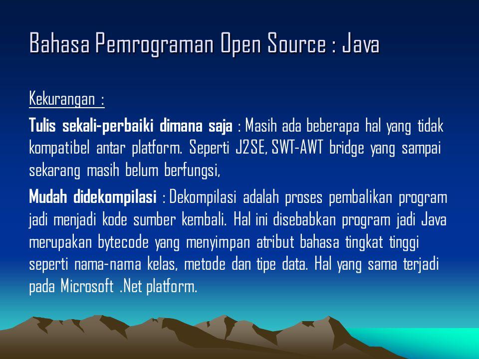 Bahasa Pemrograman Open Source : Java