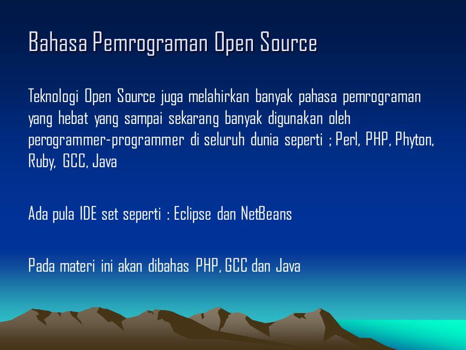 Bahasa Pemrograman Open Source
