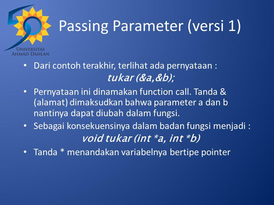 Passing Parameter (versi 1)