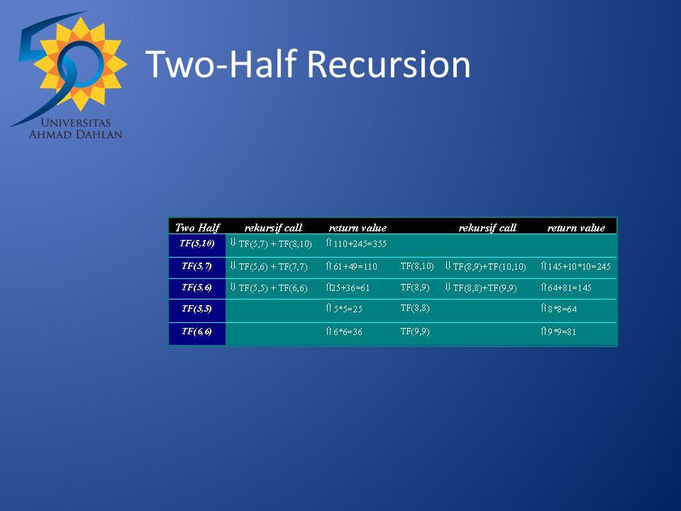 Two-Half Recursion